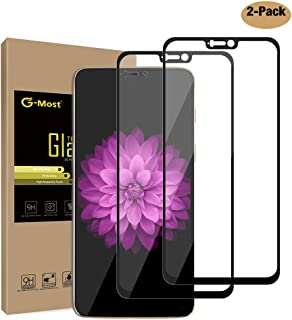 G-Most Protector de Pantalla para OnePlus 6 (2 Unidades) [Full Adhesivo] [Cobertura Completa] HD de Cristal Templado Protector de Pantalla para OnePlus6, Color Negro