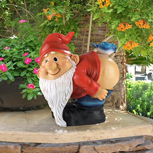 Design Toscano Loonie Moonie Bare Buttocks Garden Gnome Statue: Medium - 6