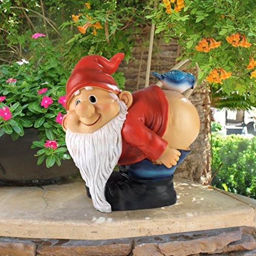 Design Toscano Loonie Moonie Bare Buttocks Garden Gnome Statue, Medium 20.25 cm, Polyresin, Full Color