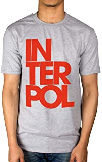 Official Interpol Stacked Logo T-Shirt