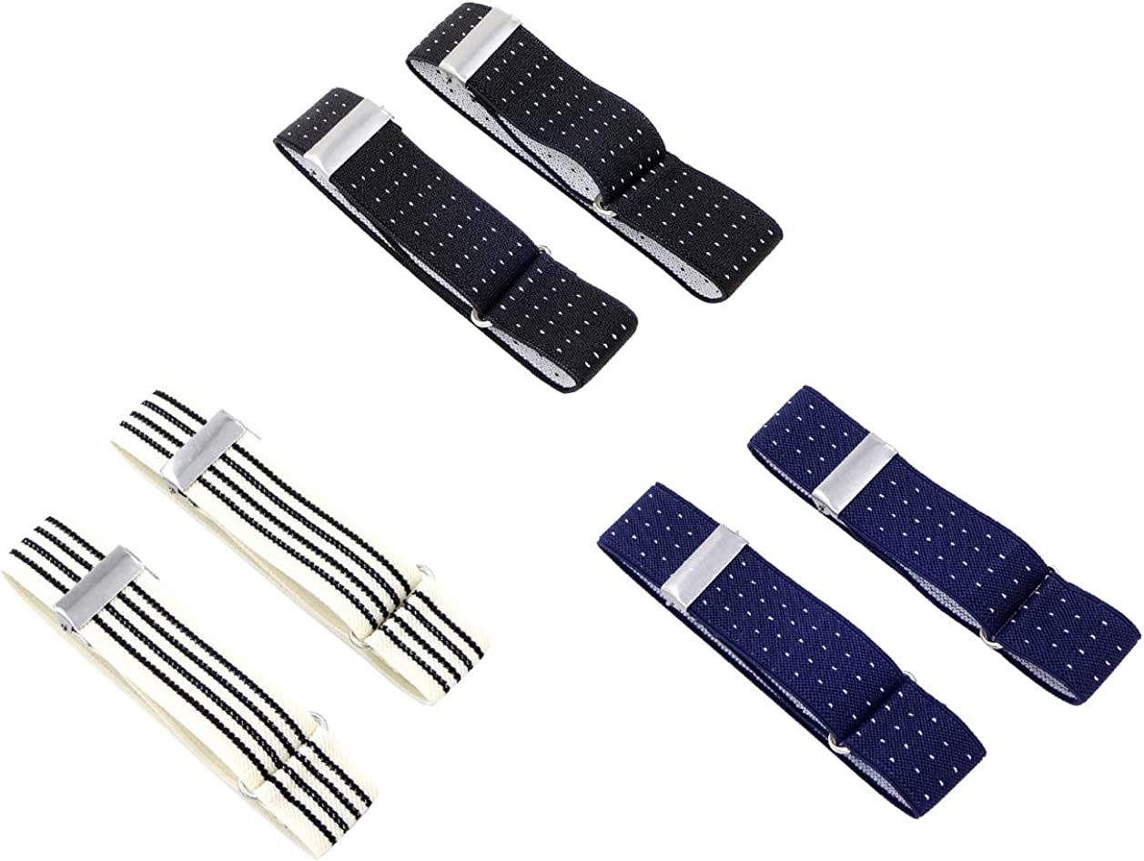 SupSuspen 3 Pairs Men's Stretch Armbands Elastic Sleeve Holders for Men 1