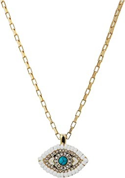Rebecca Minkoff - Evil Eye Delicate Necklace