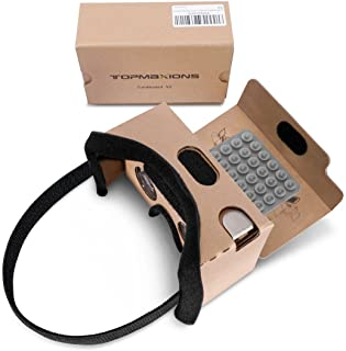 Google Cardboard,Topmaxions 3D VR Virtual Reality DIY VR Headset for 3D Movies and Games Compatible with Android & Apple u...