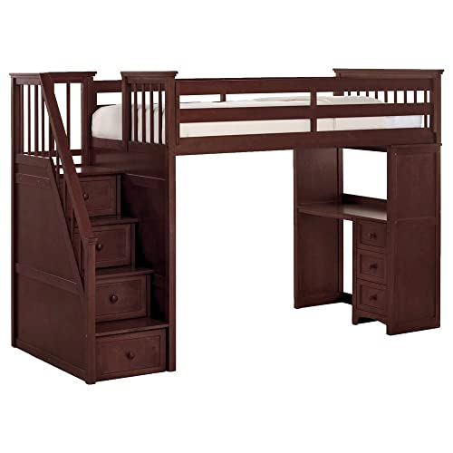 Full Size Loft Bed With Stairs Amazoncom