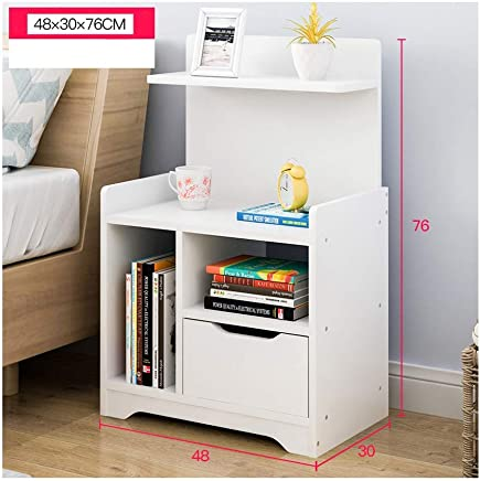 BJAB H4 Bedside Table, Mini Sofa Side, Living Room Removable Coffee Table Side Cabinet