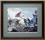Gettysburg High Tide By Mort Kustler Framed Civil War Art Print