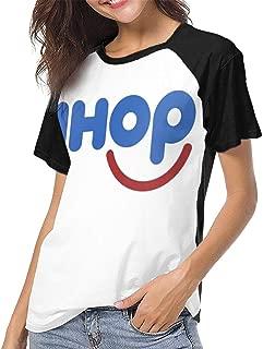 Kangtians Womens IHOP Classic T Shirts Baseball Short Sleeves