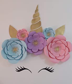 UNICORN GIANT PAPER FLOWER SET