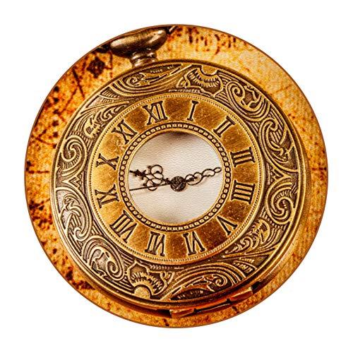 Posavasos de Antideslizante de Doble Cara Colgante de Reloj clásico Posavasos para Bebidas Posavasos Alfombrilla Grande de 4.3 Pulgadas, Juego de 6 11cm