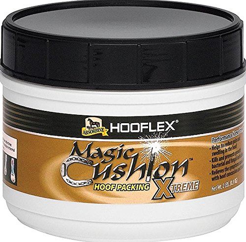 Absorbine Hooflex Magic Cushion Xtreme, Veterinary Formulated Fast-Acting Relief, Reduce Hoof Heat for up to 24 Hours, 2 lb Tub
