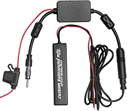 Universal AM FM Dipole Antenna for Vehicle Car Auto Truck SUV Radio Stereo Head Unit Receiver Tuner Hidden Adhesive Mount Radio Antenna with DIN Plug Connector