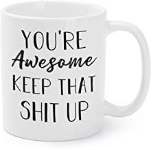 Mugaholics Funny Mugs You're Awesome Keep That Up Coffee Tea Cups Birthday, Father's Day, Graduation Presents for Boys, Gi...