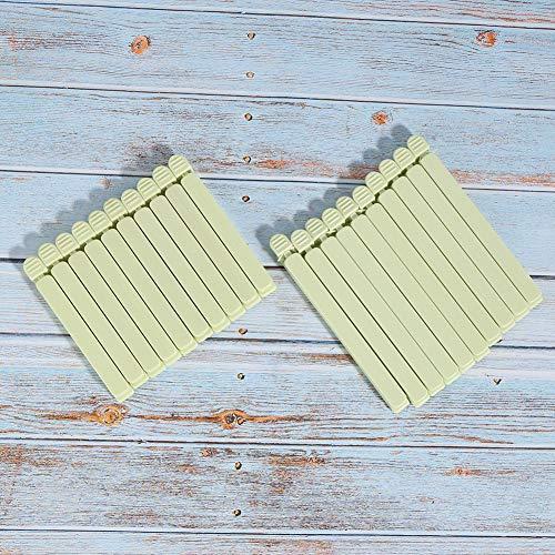 Socobeta Clip de sellado fácil de abrir y cerrar, apto para lavavajillas para el hogar (verde)