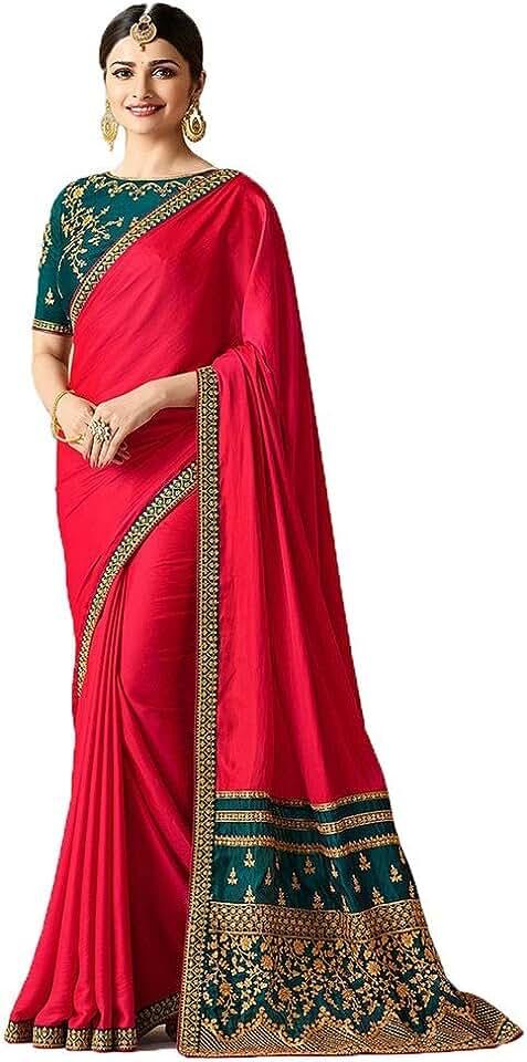 Indian Navya Diseno Women's Rangoli Silk Saree With Blouse For Women Half Saree Offer Designer Below 499 Rupees Latest Silk Desig... Saree