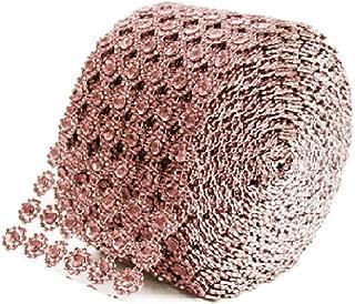 Diamond Flower Shape Mesh Wrap Roll Faux Rhinestone Crystal Ribbon 4