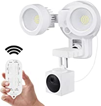 Wasserstein 3-in-1 Remote Floodlight, Charger and Mount Compatible with Wyze Cam Outdoor - Turn Your Camera into a Powerfu...