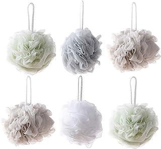 Cabilock 10pcs Bath Loofahs Sponge Shower Pouf Body Scrubber Ball Mesh Exfoliating Cleaning Pouf
