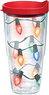 Tervis 1126961 Christmas Lid, The lights are strung by the tumbler with care in hopes that long-lasting hot drinks will bring cheer. They will when theyre served in this festive cup. , Red