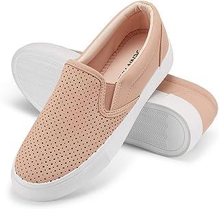 JENN ARDOR Women's Fashion Sneakers Perforated Slip on...