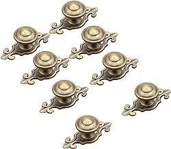 Mooi leven* 10 stuks meubelknop kastknoppen meubelknoppen set meubelgreep set retro keramische deurknop (brons)
