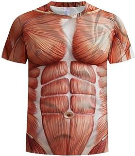 y-style 筋肉 見えてる 半袖 Tシャツ 宴会 コスプレ 仮装 面白 グッズ 男女兼用 (Lサイズ)