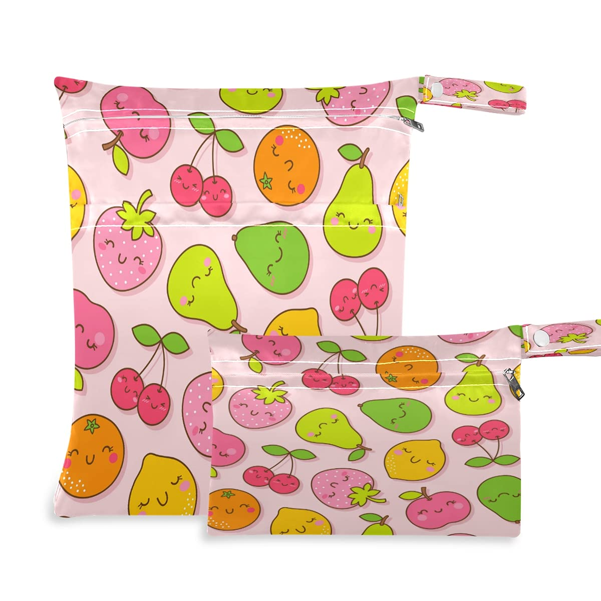 xigua 2 Pieces Fruit Baby Cloth New popularity Dry R Bags Ranking TOP6 Wet Waterproof Diaper