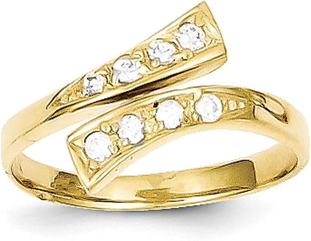 Women's 10K Yellow Gold Toe Ring