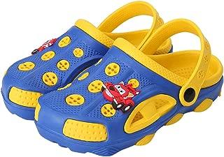 Toddlers Cartoon Slides Sandals-Lightweight Garden Clogs Beach Sandals for Toddler Boys Girls