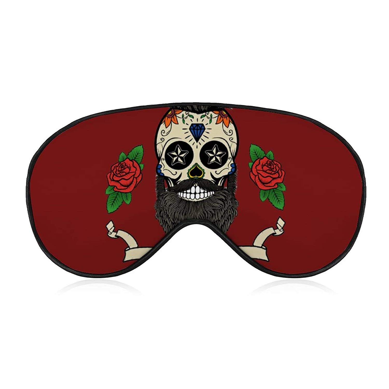 Skull Man Low price Rose Hair Eye mask Cash special price Cute Soft Covers Printing