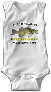 Fishermans Measuring Tape Sleeveless Bodysuit Onesies Unisex Baby's Climbing Clothes Bodysuits Romper Short Sleeved Light Onesies White