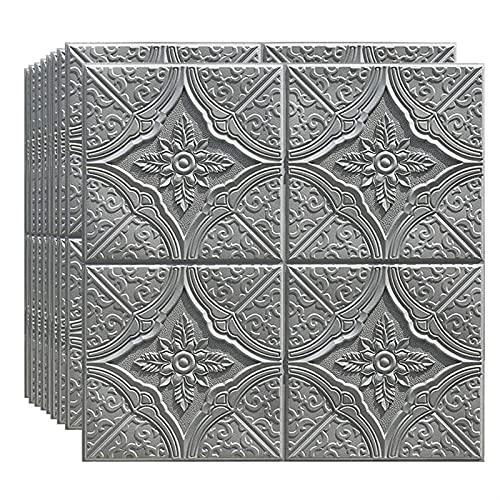 Paneles de pared de PVC 12 unids 3D Etiqueta engomada de la pared de espuma estéreo 3D 70 * 70 cm papel tapiz de pared Techo Autoadhesivo Dormitorio Dormitorio Papeles de espuma de techo Sala de estar