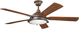 Indoor Ceiling Fans 4 Light with Tannery Bronze Powder Coat Finish Candelabra Bulb 60 inch 160 Watts