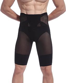 AIEOE - Calzoncillos Moldeador de Abdomen para Hombre Pantalones Interior Shapewear Translúcido Transpirable con Faja Adel...