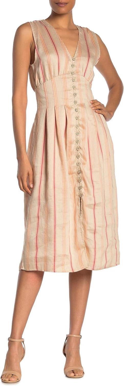 Joie Women's Valari Linen Hi-Low Midi Dress