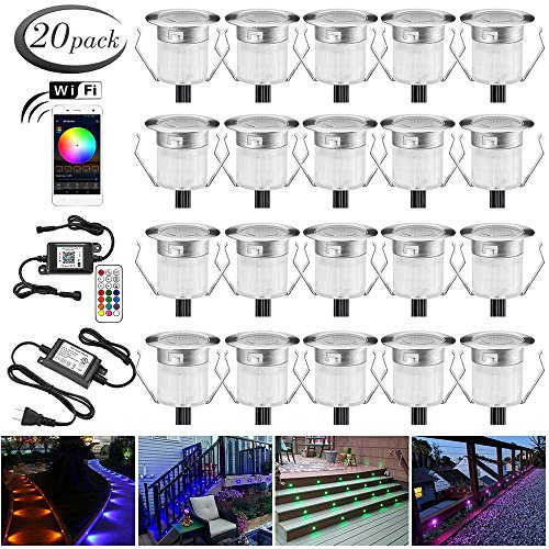 LED Deck Lights Kit, 20pcs Φ1.18