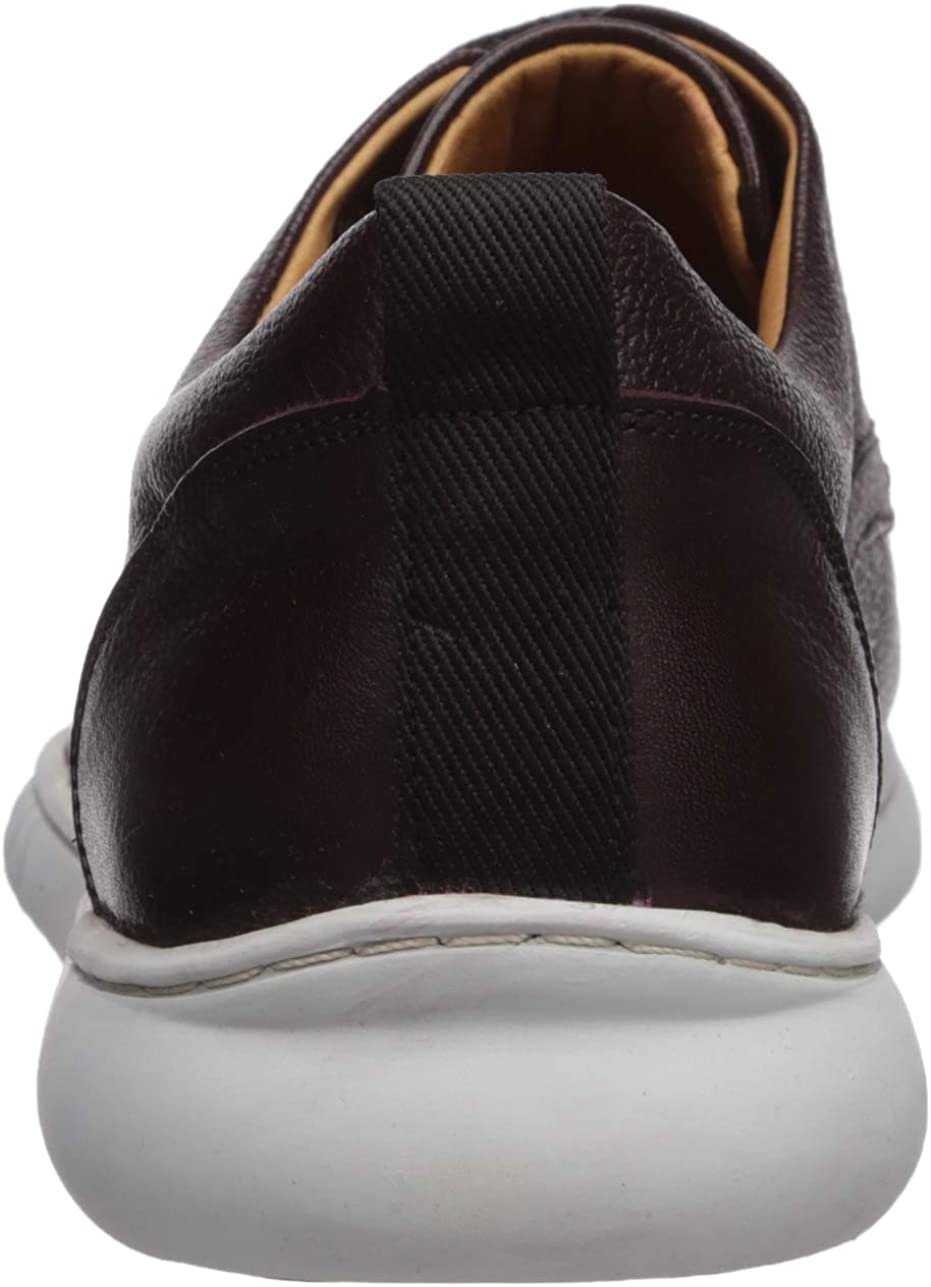 Driver Club USA Men's Leather Made in Brazil Oxford Sneaker Wine Grainy