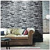 HaokHome 69092 DIY 石の壁のレンガ 壁紙 タイル ブロック壁紙 壁用 おしゃれ ブリックパターン ストーン 3D 屋内 ベッドルーム装飾 53cm×10m