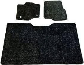 CarsCover Custom Fit 2015-2019 Ford F150 F250 F350 SuperCrew Cab Front and Rear Row Carpet Car Truck Floor Mats Heavy Cushion Ultramax Asphalt Black