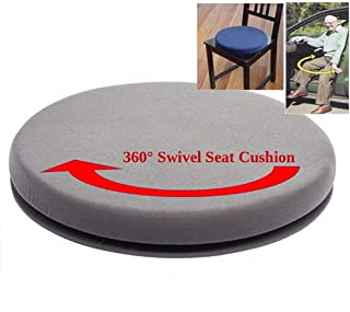 Swivel Car Seats, 360 Degree Rotating Swivel Car Chair Seat Cushion Soft Solid Mats Bottom Easy Access Mobility Home Office(as shown 1PCS)
