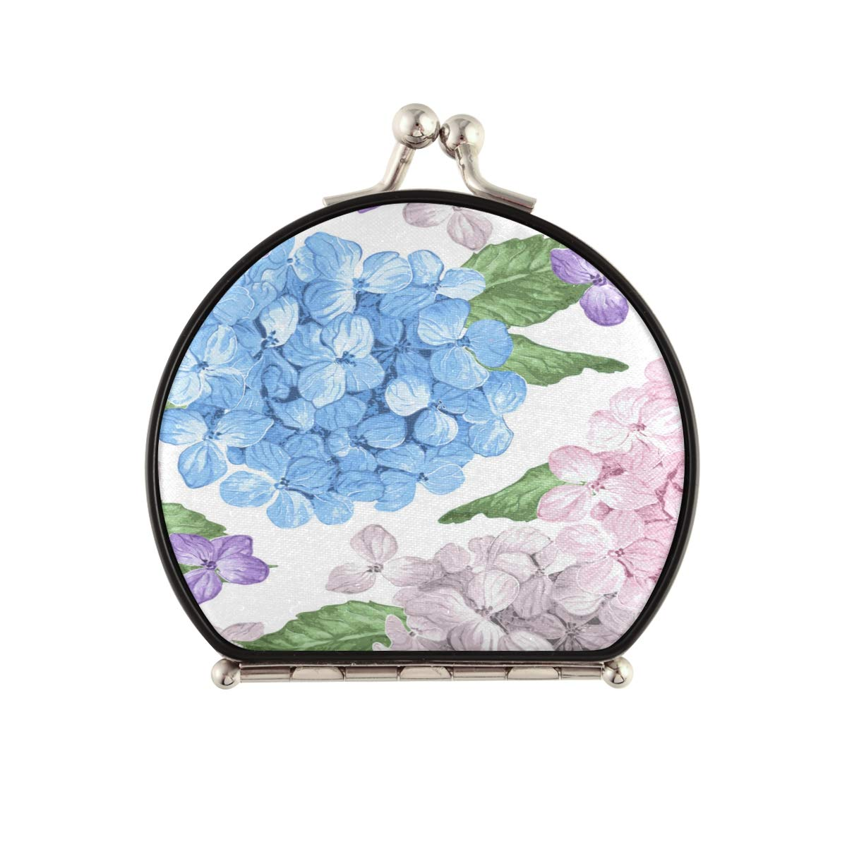 Magnifying Compact Selling rankings Cosmetic Mirror Hydrangea Petals And Chicago Mall Flowers