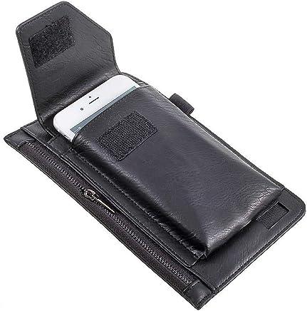 fe41478648b DFV mobile - Funda Estuche para Cinturon Vertical Incluye Bolsillo Interior  con Cremallera para =>