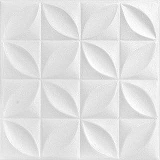 A La Maison Ceilings R103 Perceptions Foam Glue-up Ceiling Tile (21.6 sq. ft./Case), Pack of 8, Plain White