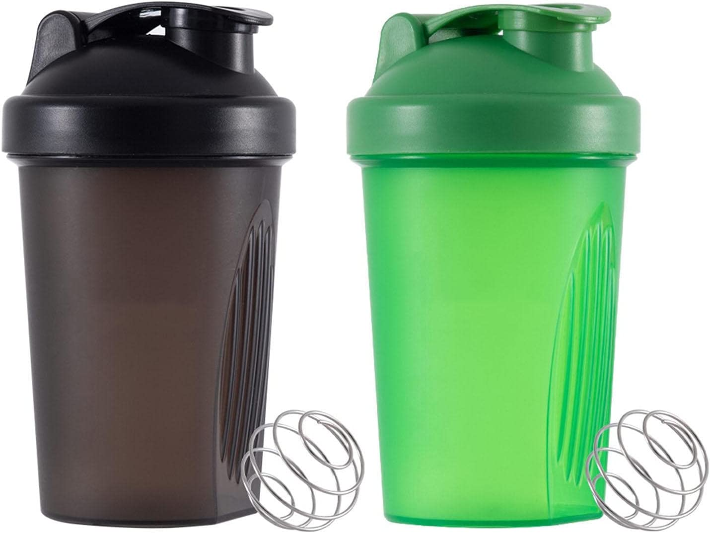 2 Pcs Shake Long-awaited Cup 400ML Shaker Bottles for Ranking TOP6 Mixes Pr Protein