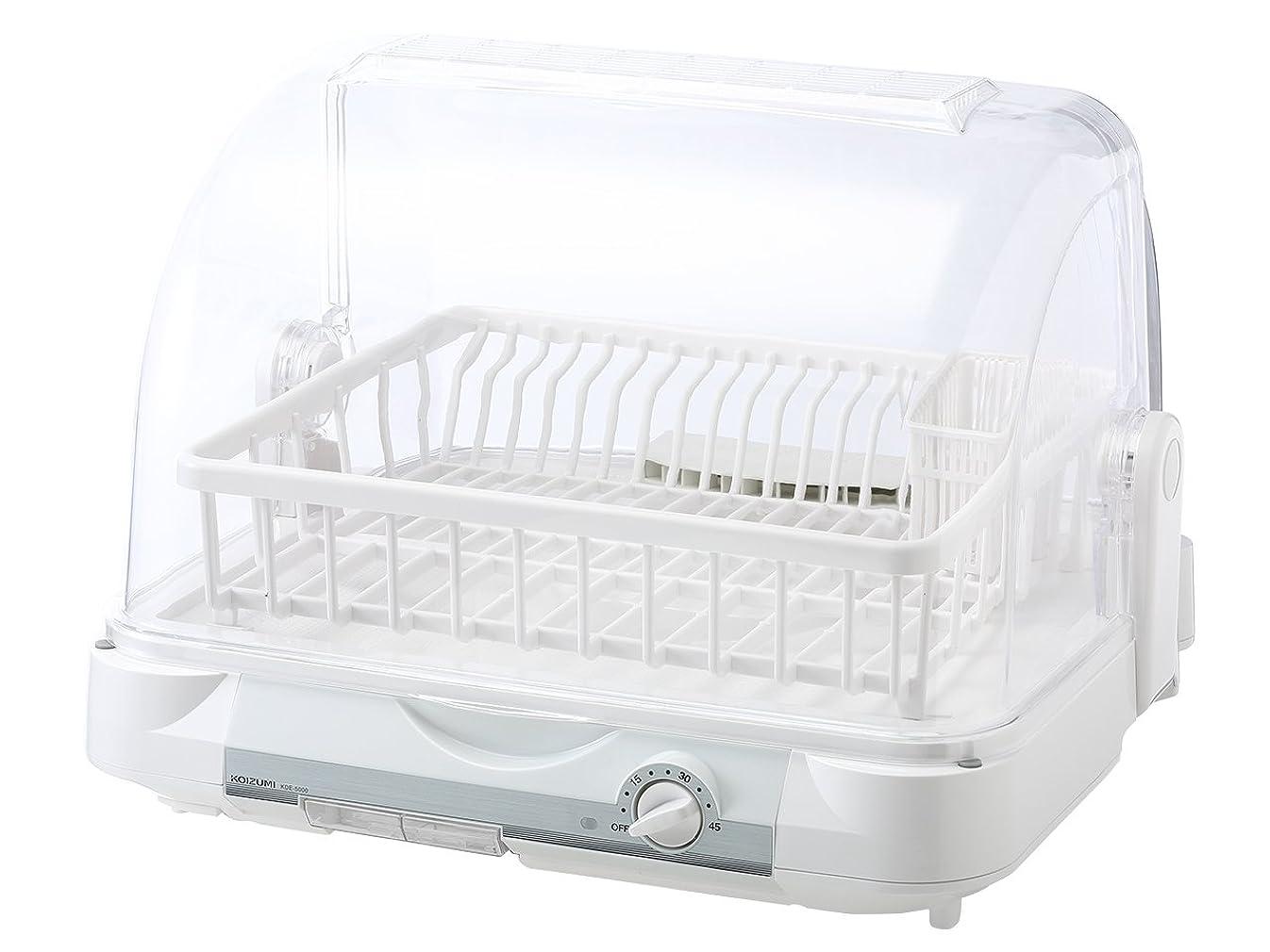 姉妹破壊的手配するコイズミ 食器乾燥機(樹脂かご) ホワイト KDE-5000/W