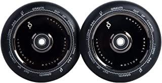 GRAVITI 1 Pair 110mm Pro Stunt Scooter Hollow Wheels with ABEC 9 Bearings for MGP/Razor/Lucky/Envy/Vokul Scooter Replacement Wheels (2pcs)