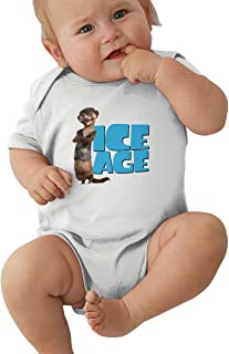 Wokeyia Ice Age Collision Course Soft Romper Short Sleeve T Shirt for Baby Girl Onesies Black