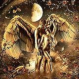 ChuYuszb 1000 Piezas de Rompecabezas para Adultos Pareja de ángeles bañándose en el Amor Materiales de Madera para niños Juegos Familiares Juguetes de liberación de presión s