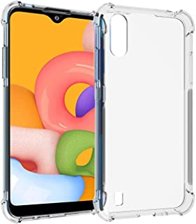 Protective Transparent Clear Case Shockproof Back Cover For Samsung Galaxy A01, Clear