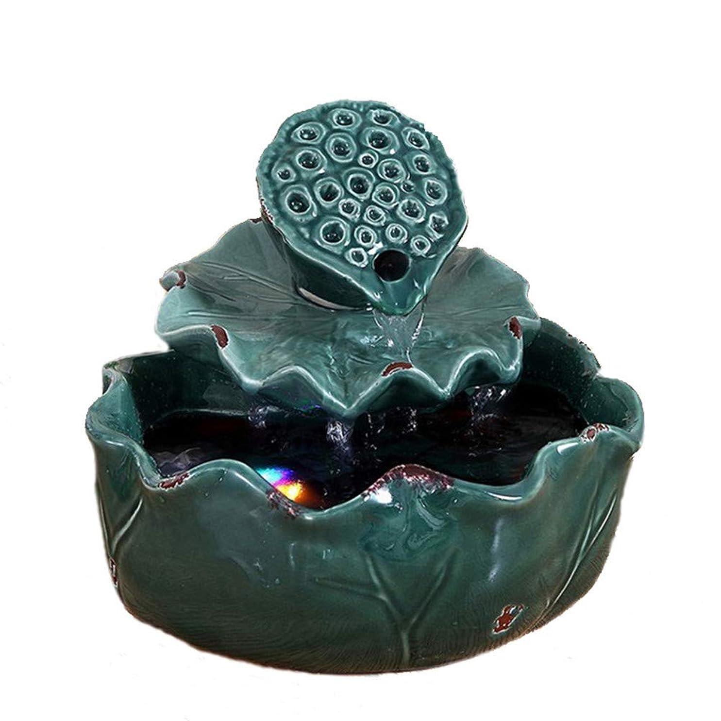 締め切りアロング却下する空気加湿器クリエイティブロータス卓上装飾装飾セラミック工芸絶妙なギフト