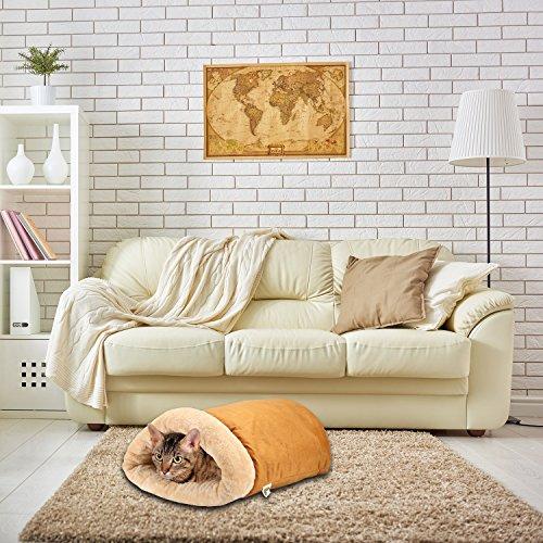PetMagasinキャットケイブイグルーベッド-あったかポッド[超快適&ソフト]猫、子犬、その他の小動物用